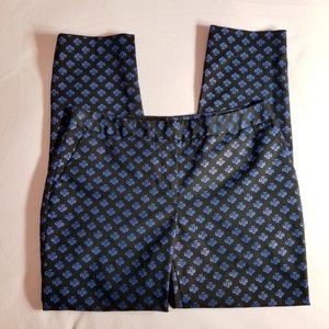 Halogen Taylor fit pants with blue print
